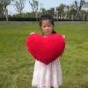 plush love red heart cushion