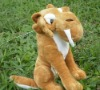 plush tiger toy of ice age for decoration toy