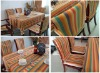 polyester/cotton Yarn dyed table cloth / chair cover Home Textile