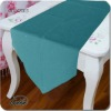 polyester/cotton blue simple table runner