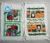 polyester /cotton pigment printed tea towel