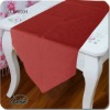 polyester/cotton red simple table runner