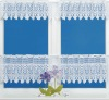 polyester knit jacquard lace curtains