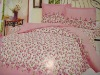 polyester printed bedding set bed cover bed sheet / micro fabric / peach skin