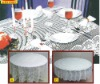 polyester round sheer lace table cloths