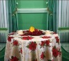 polyester table cloth printed with Christmas designs