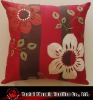 polysilk applique and embroidered flower cushion
