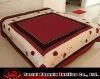 polysilk embroidered/applique red flower comforter set