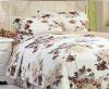 premium peony printing peach skin fabric bedding set