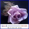 pretty mauve rose feather hair Flower