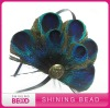 pretty peacock feather pad with headband