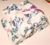 printed 100% polyester coral fleece hand towel