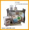 printed baby bedding set