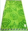 printed border beach towel