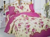 printed colorful quilt cover bed set