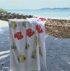 printed cotton bath towels velour