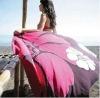 printed microfiber two sides velvet beach towel
