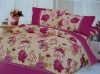 printed mulberry silk bedding set/100% silk flower bedding set/home textile