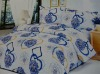 printed mulberry silk bedding set/100% silk flower bedding set/home use textile