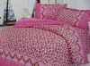 printed mulberry silk bedding set/wedding use silk bedding set/home textile