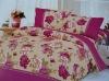 printed mulberry silk comforter set/100% silk flower comforter set