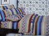 printed mulberry silk comforter set/100% silk stripe comforter set