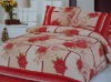 printed mulberry silk quilt set /100% silk flower soft bed quilt set