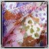 printed silk  mesh fabric