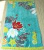 printing and jaquard beach towel