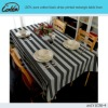 pure cotton black stripe printed rectangle table linen