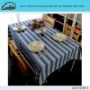 pure cotton blue stripe printed dining rectangle table linen