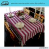 pure cotton rose stripe printed western dining table linen