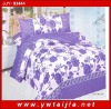 purple flowers print bedding set/Modern design bedding set-Yiwu taijia home textile