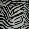 pvc artificial leather for bag-zebra