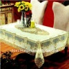 pvc lace table cloth size: 1.38m*20m and 50cm*20m