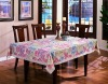 pvc table cloth, plastic table cover