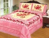 raschel blanket 4pcs bedding set 4pcs spred set
