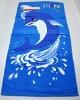 reactive printed velvet beach towel