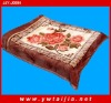 reasonable price 100% polyester soft flower printed blanket