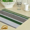 rectangle cotton handmade striped printed style dining table mat
