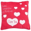 red soft polyester cushion