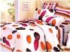 satin duvet cover set printed bedding set bedsheet