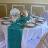 satin table runner/polyester table runner for wedding/table flag/hotel table runner