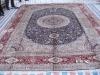 semi antique persian silk carpet