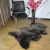 sheep leather rug
