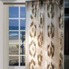 sheer organza jacquard curtain