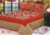 silk bed sheet 3pcs/one set