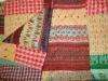 silk patola sari kantha quilts/rallis/gudris/bedcover/bedspreads/carpet