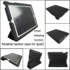 smart cover leather case for ipad2, MOQ:300pcs wholesale