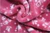 solid color warp knittting printed shu velveteen blanket
